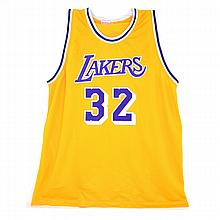 Very Rare Magic Johnson Signed Lakers Jersey Authenticated By JSA