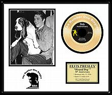 ELVIS PRESLEY ''Hound Dog '' Gold Record-50th Anniversary
