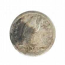 1853 Seated Liberty Quarter Coin