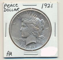 *1921 Peace Dollar AU Coin (JG)