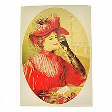 Rare Vintage Coca Cola Advertising Poster (8'' x 11'')