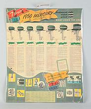 1950 Mercury Kiekhaefer Advertisement Sign-P-