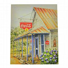 Rare Vintage Coca Cola Advertising Poster (7.5'' x 9.5'')