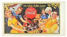 Rare Vintage Coca Cola Advertising Poster (17'' x 9.5'')