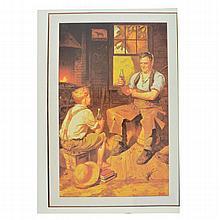 Rare Vintage Coca Cola Advertising Poster (9'' x 13'')