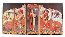 Rare Vintage Coca Cola Advertising Poster (14'' x 7.5'')