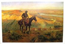 CHARLES M. RUSSELL (After) Wagon Boss Print, 32'' x 22''