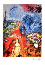 MARC CHAGALL (After) Serenade Print, I165 of 500