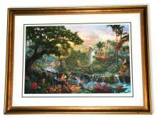 Rare Thomas Kinkade Original Limited Edition Numbered Lithograph Plate Signed Museum Framed ''Jungle Book''