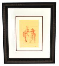 Toulouse-Lautrec (After) ''La Dresseuse D'animaux'' Rare Museum Framed 17x20 Ltd. Edition 332/350