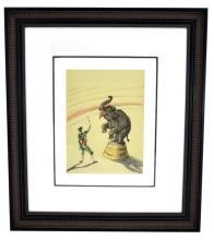 Toulouse-Lautrec (After) ''Elephant En Liberte'' Rare Museum Framed 17x20 Ltd. Edition 332/350