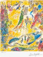 MARC CHAGALL (After) King David Print, 465 of 500