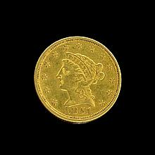*1851 $2.50 U.S. Liberty Head Gold Coin