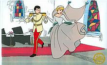 Walt Disney (After) Serigraph, Cell, Cinderella W/ certificate