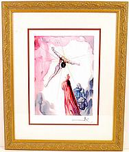 SALVADOR DALI (After) ''The Apparition Of Christ'' Rare Museum Framed 20x24 Ltd. Edition 3/99