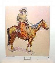 FREDERIC REMINGTON (After) Arizona Cowboy Print, 22.5'' x 26''