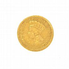 1862 $1 U.S. Indian Head Gold Coin