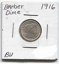 *1916 Barber Dime BU Coin (JG 191610cj1816)