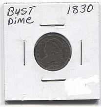 *1830 Bust Dime Coin (JG 183010cj1816)