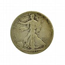 1921 Walking Liberty Half Dollar Coin