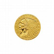 1914 $2.5 U.S. Indian Head Gold Coin