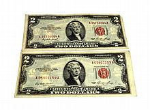 2 1953 $2 Red Seal Note