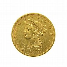 *1878 $10 U.S. Liberty Head Gold Coin (DF)