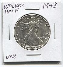 *1943 Walker Half Unc Coin (JG 194350cuncj1816)
