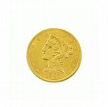 1907-D $5 U.S. Liberty Head Gold Coin