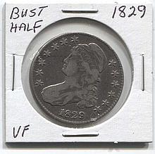 *1829 Bust Half VF Coin (JG 182950cvfj1816)