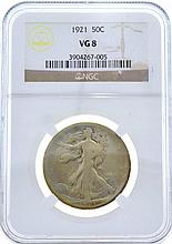 1921 Walking Liberty Half NGC VG8 Coin