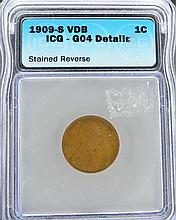 1909-S VDB Lincoln Cent ICG - GO4 Details Coin