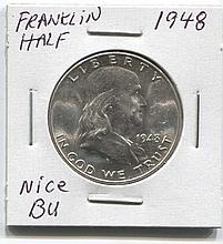 *1948 Franklin 50c Nice BU Coin (JG 194850cj1816)