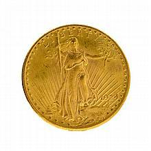 ^*1924 $20 U.S. Saint Gaudens Gold Coin (DF)