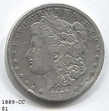 *1889-CC Morgan $1 Key Date Rim Damage Coin (JG 1889cc$1j1816)