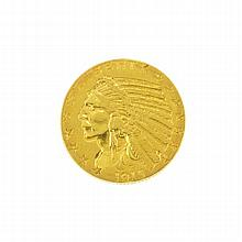 1915 $5 U.S. Indian Head Gold Coin
