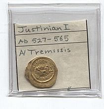 *Justinian I Ancient Gold Coin (JG jusj1816)