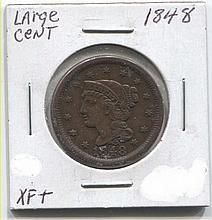 *1848 Large Cent XF+ Coin (JG 18481CJ1816)