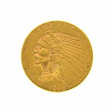 1915 $2.50 U.S. Indian Head Gold Coin