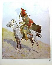 FREDERIC REMINGTON (After) The Blanket Signal Print, 22.5'' x 28''