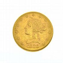 *1886-S $10 U.S. Liberty Head Gold Coin (DF)