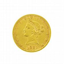 1881 $10 U.S. Liberty Head Gold Coin