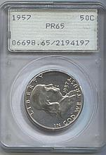 *1957 Franklin 50c PCGS PR65 Old Holder Coin (JG 2194197)