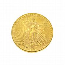 *1924 $20 U.S. Saint Gaudens Gold Coin (DF)