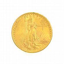 *1910-S $20 U.S. Saint Gaudens Gold Coin