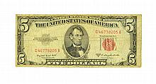 1953 $5 U.S. Red Seal Note