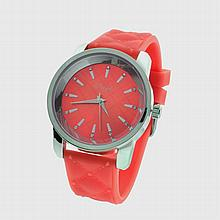 New Onyk, Stainless Steel Back, Water Resistant, Red Rubber Strap, Ladies Watch