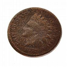 1877 One Cent Indian Head Coin