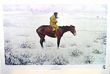 FREDERIC REMINGTON (After) The Herd Boy Print, 22.5'' x 17.5''