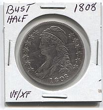 *1808 Bust Half VF/XF Coin (JG 180850cvfcj1816)